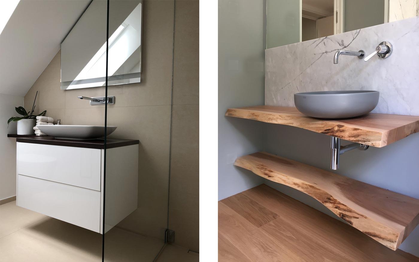 Beispiele Tischler-Arbeiten Bad