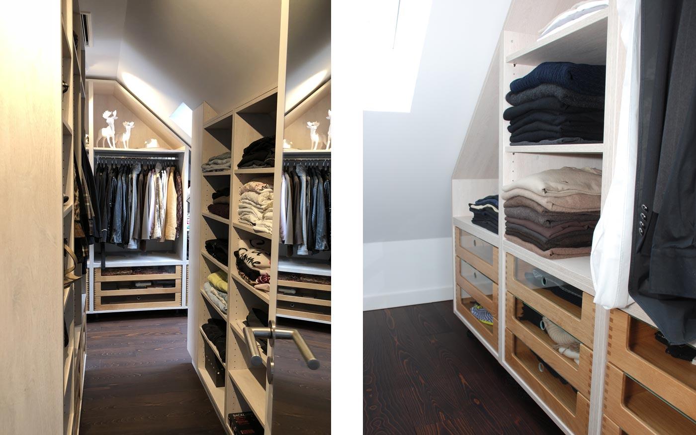 Beispiele für einen begehbaren Kleiderschrank vom Tischler
