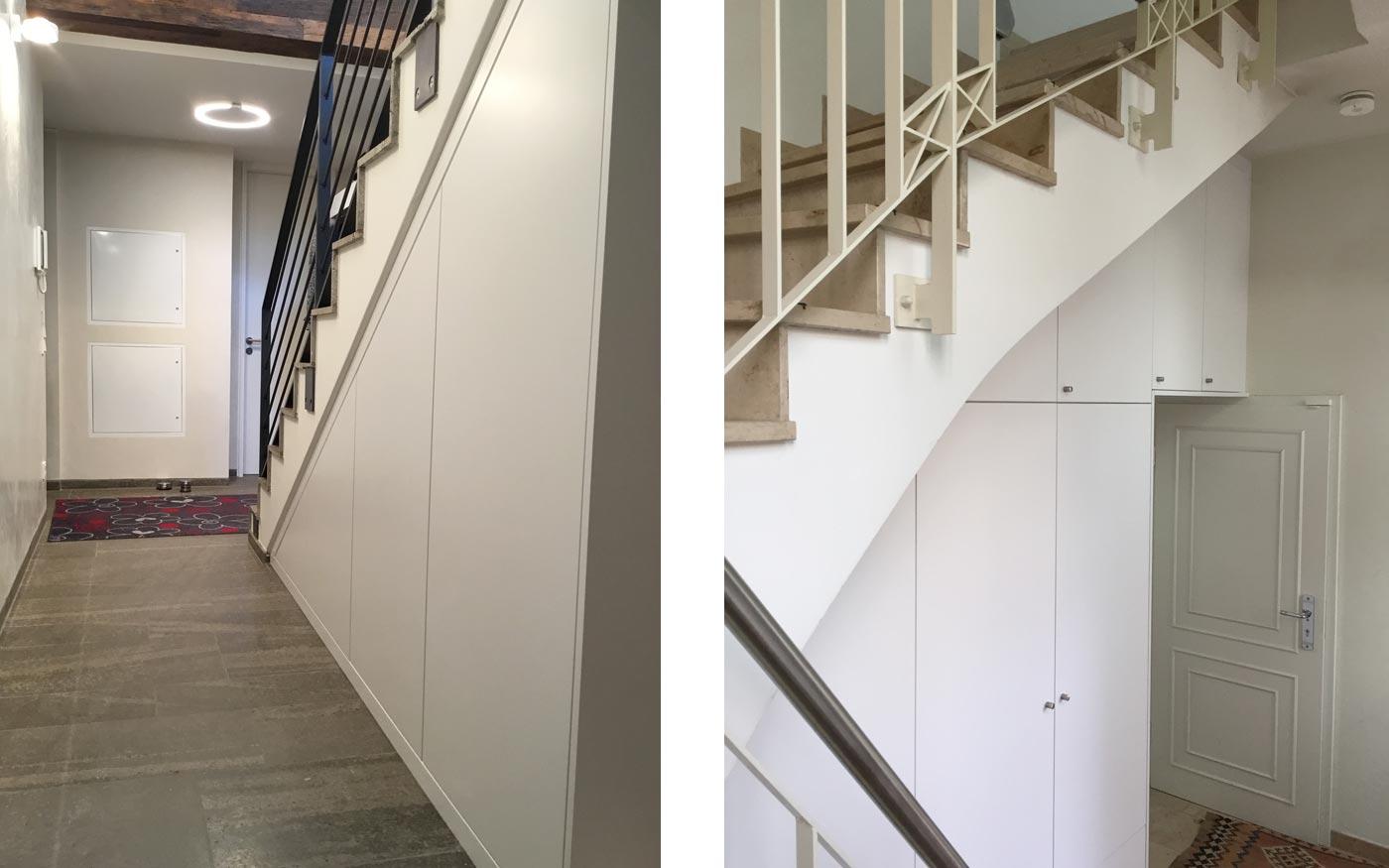 Schränke unter Treppen