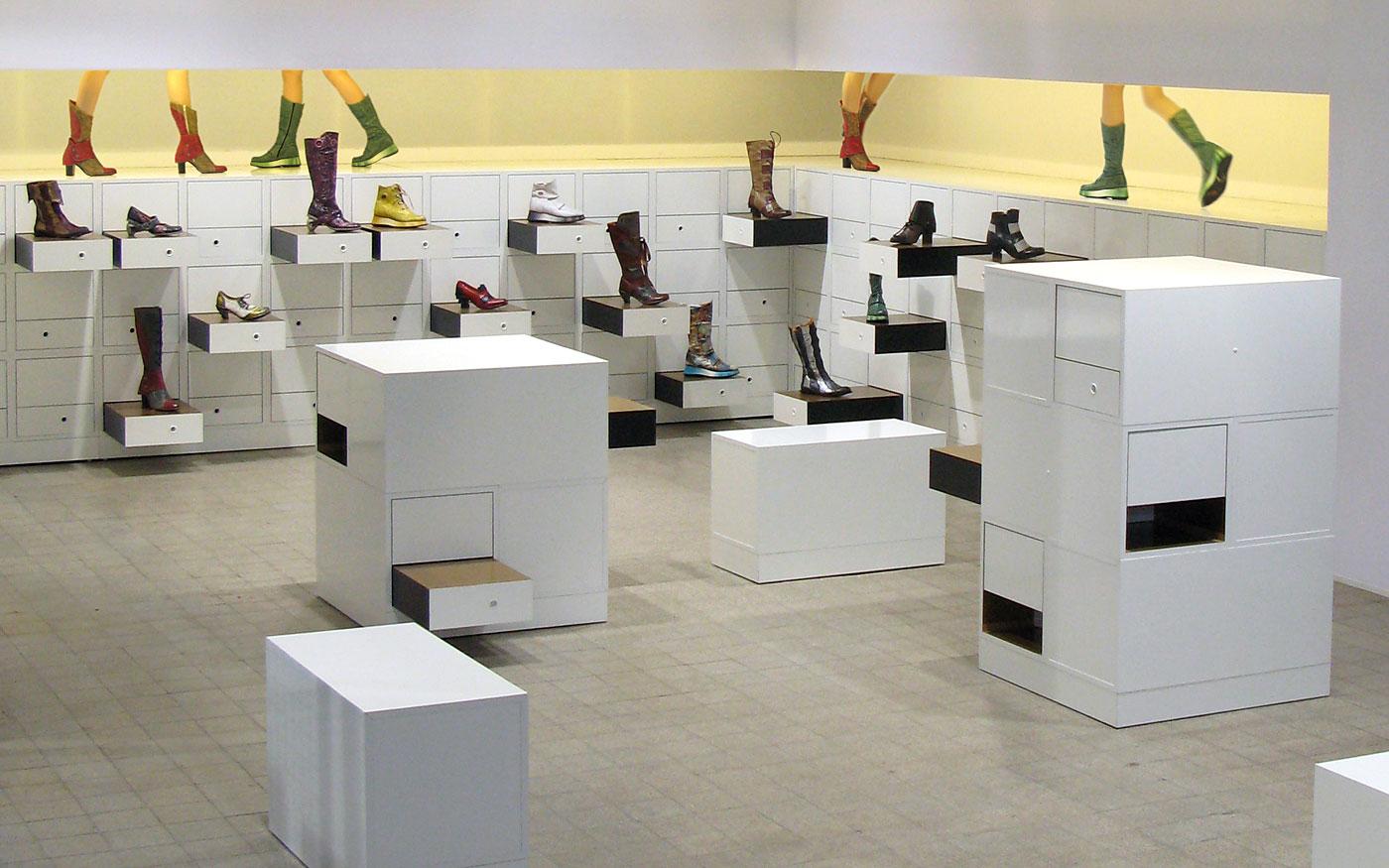 Messebau-Beispiel für Schuh-Hersteller