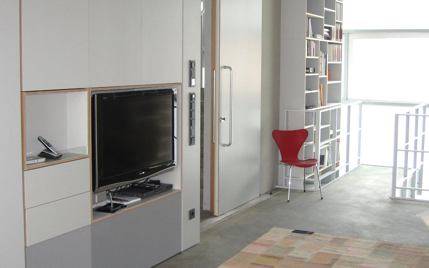Modernes Wohnzimmer, Tischler-Arbeiten